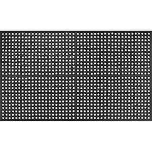Work Step 1/2'' Black 3 Ft. x 5 Ft. Commercial Door Mat