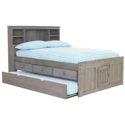 Charcoal Gray Series Full Size Platform Bed Charcoal Gray with 3-Drawers