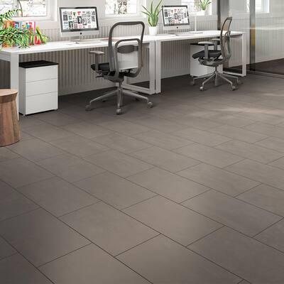 Burke Steel 12 in. x 24 in. Matte Porcelain Floor Tile (11.57 sq. ft. / carton)