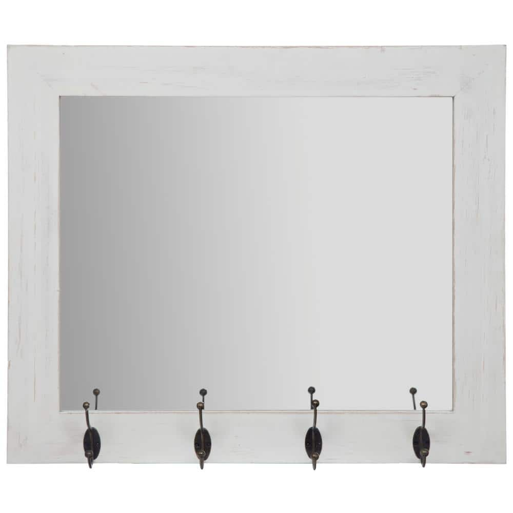 Pinnacle Medium Rectangle White Mirror 22 In H X 26 In W 18fp1414e The Home Depot