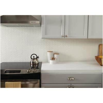 Restore Bright White 9 in. x 12 in. x 6.35 mm Ceramic Mosaic Wall Tile (0.6 sq. ft./Each)