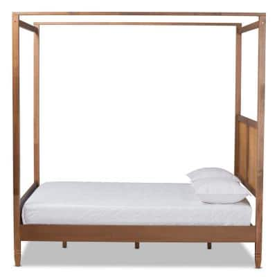 Malia Brown Queen Canopy Bed
