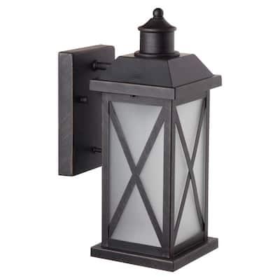 Ridley 1-Light Bronze Outdoor Wall Lantern Sconce