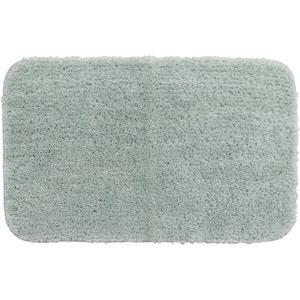 Duo Green 24 in. x 38 in. Nylon Machine Washable Bath Mat