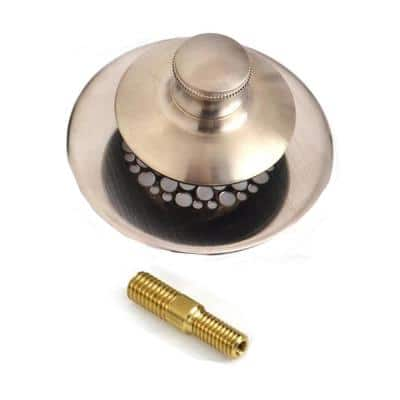 Universal NuFit Foot Actuated Bathtub Stopper and 3/8-5/16 in. Pin Adapter in Nickel