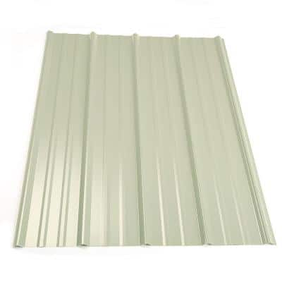 16 ft. Classic Rib Steel Roof Panel in White