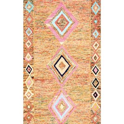 Bokja Moroccan Bohemian Multi 4 ft. x 6 ft. Area Rug