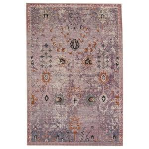 Swoon Purple/Gold 5 ft. X 7 ft.3 in. Oriental Rectangle Area Rug