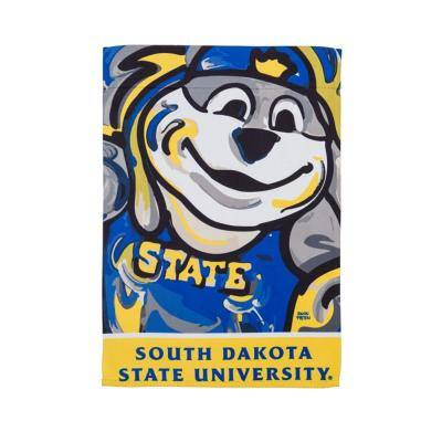 12.5 in. x 18 in. South Dakota State University Justin Patten Artwork Mascot Garden Flag
