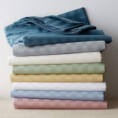 Classic Stripe 350-Thread Count Sateen Duvet Cover