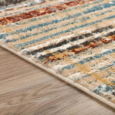 Gentry 8 Multi 8 Ft. x 10 Ft. Abstract Checker Area Rug