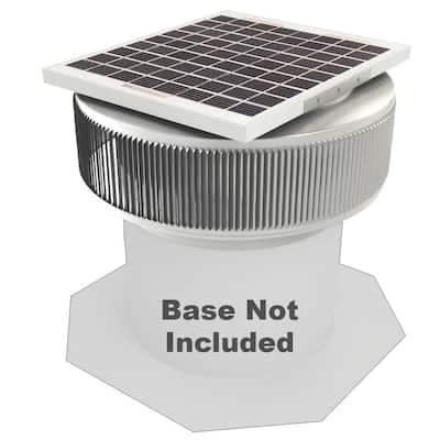 740 CFM Mill Finish 10-Watt Solar Powered 12 in. Dia Retrofit Attic Roof Fan