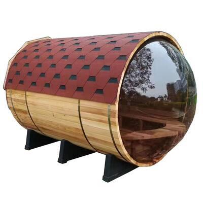 7-Person Pine Electric Heater Sauna