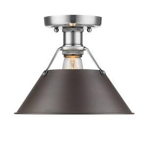 Orwell PW 1-Light Pewter Flush Mount Light