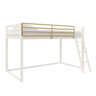 Monarch Hill Haven White Twin Size Metal Junior Loft Bed