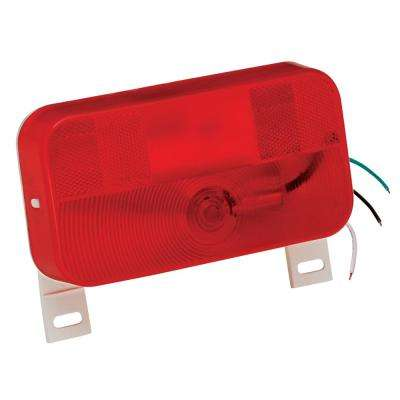 Surface Mount Taillight #92 Red with License Bracket
