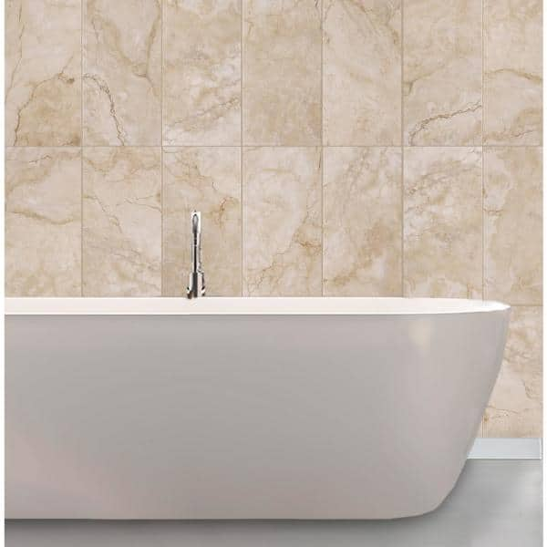 Florida Tile Home Collection Oasis Beige 9 In X 18 In Ceramic Wall Tile 21 8 Sq Ft Case Chdecc019x18 The Home Depot