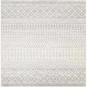 Laurine Grey 10 ft. x 10 ft. Indoor Area Rug