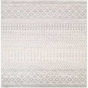 Laurine Grey 6 ft. x 6 ft. Indoor Area Rug