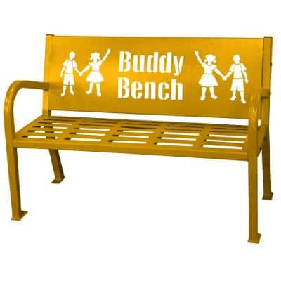 4 ft. Yellow Buddy Bench