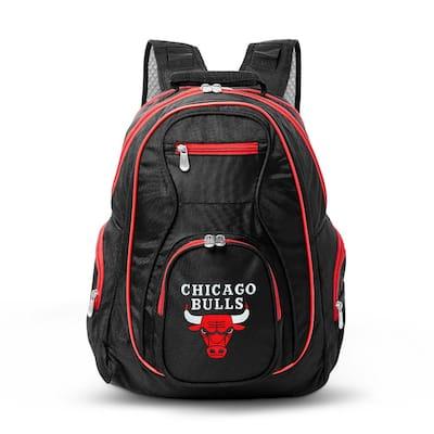 NBA Chicago Bulls 19 in. Black Trim Color Laptop Backpack