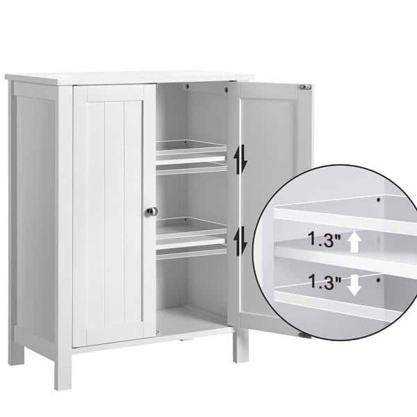 Hooseng 23 6 In W Free Standing Linen, Bathroom Stand Alone Cabinet