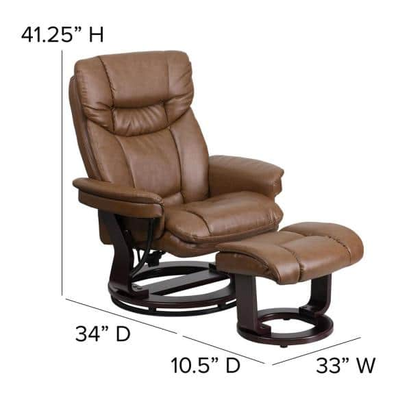 Flash Furniture Contemporary Palomino, Flash Furniture Reclining Office Chair With Ottoman