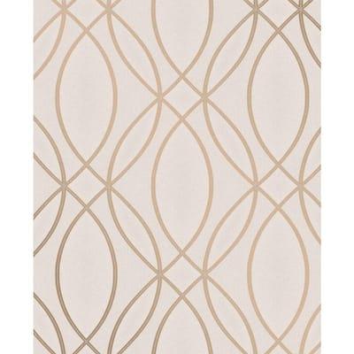 Lisandro Rose Gold Geometric Lattice Rose Gold Wallpaper Sample