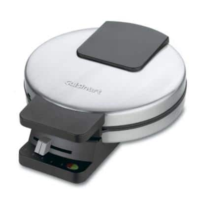 Single Waffle Stainless Steel American Waffle Maker with Recipe Book
