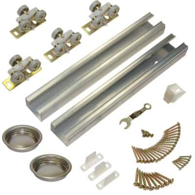 100SD Series 60 in. Track and Hardware Set for 2-Door Bypass Doors