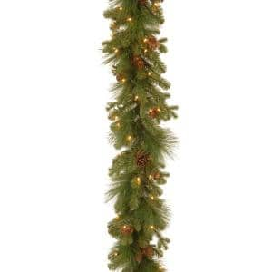 9 ft. Eastwood Spruce Garland with Clear Lights