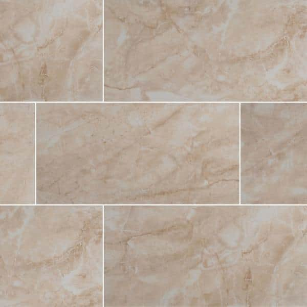 Msi Take Home Tile Sample Cancun Beige 12 In X 24 In Glazed Ceramic Floor And Wall Tile 4 In X 4 In Ncanbei1224 Sam The Home Depot