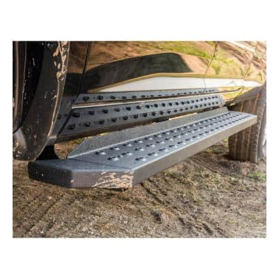 "RidgeStep 6-1/2"" x 53"" Black Steel Running Boards (No Brackets)"