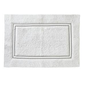 Lithgow White 30 in. W x 20 in. L 100% Cotton Bath Mat Rug