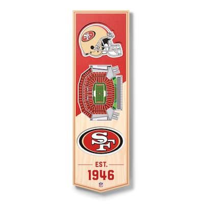 NFL San Francisco 49ers 6 in. x 19 in. 3D Stadium Banner-Levi's Stadium
