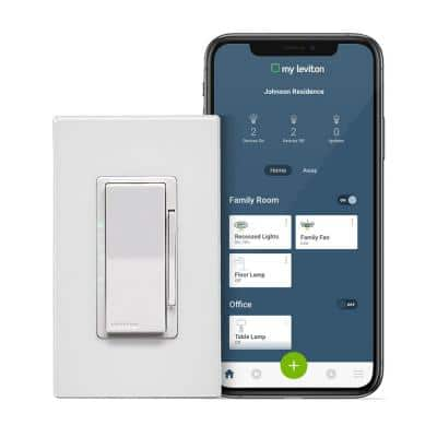 Decora Smart Wi-Fi 600-Watt Incandescent/300-Watt LED Dimmer No Hub Required Works with Alexa, Google Assistant