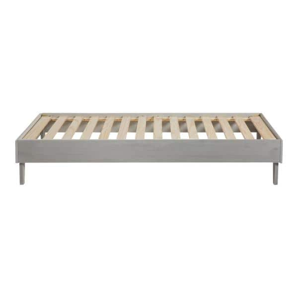 Welwick Designs Solid Wood Grey Brush Twin Platform Bed   The Home Depot