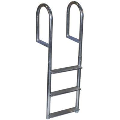 5 Steps Welded Aluminum Fixed Wide Step Ladder