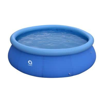 Outdoor Backyard 10 ft. Round 30 in. Inflatable Pool