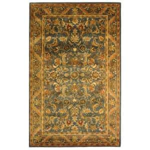 Antiquity Blue/Gold 10 ft. x 14 ft. Area Rug