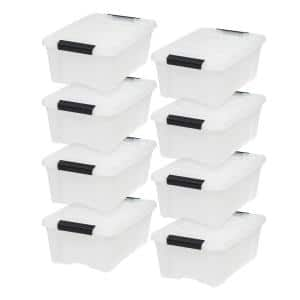 12 Qt. Stack & Pull Box in Pearl (8-Pack)