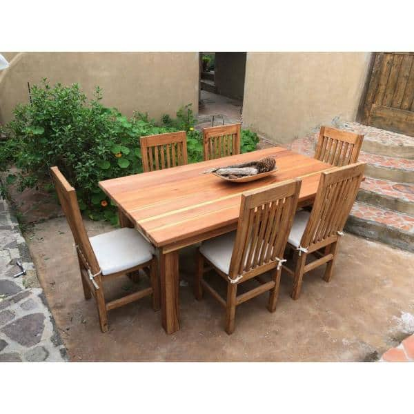 Best Redwood Farmhouse 6 Ft Redwood Outdoor Dining Table Fdt 31h38w72l 1910 The Home Depot