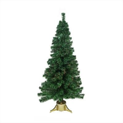 4 ft. Pre-Lit Color Changing Fiber Optic Artificial Christmas Tree