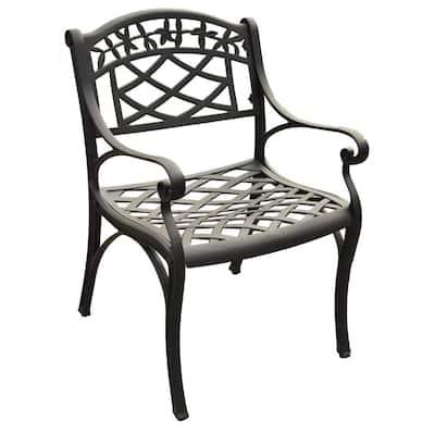 Sedona Black Cast Aluminum Outdoor Dining Chair (2-Pack)