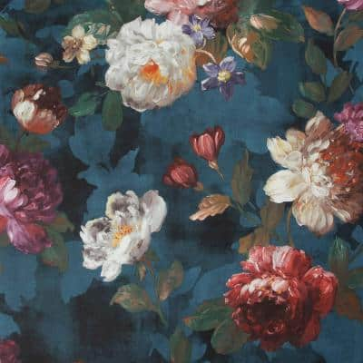 Isabelle Navy Wallpaper Sample