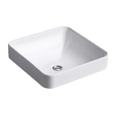 Vox Vitreous China Vessel Sink in White
