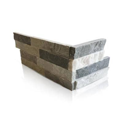 Sierra Blue 6 x 16 x 8 in. Natural Stacked Stone Veneer Corner Siding Exterior/Interior Wall Tile (2-Box/9.16 sq ft)