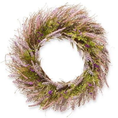 24 in. Lavender Wreath