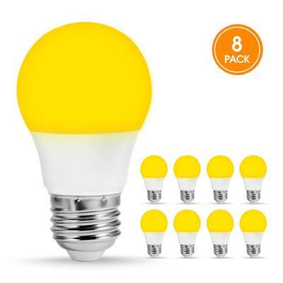 5-Watt, 40-Watt Equivalent A15 LED Bug Light Bulb E26 Base in Yellow-Colored 2000K (8-Pack)