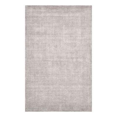 Lodhi Contemporary Solid Mist 9 ft. x 12 ft. Hand-Knotted Area Rug